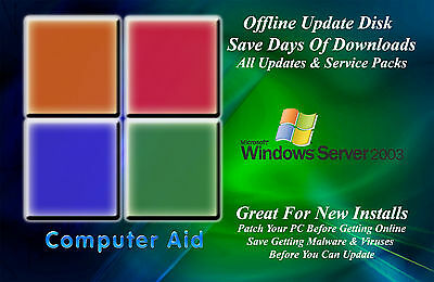 Windows Server 2003 Update Patch Disk   Includes All Sps   All Updates Dvd