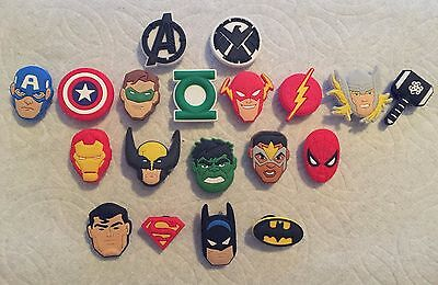 AVENGER SHOE CHARMS FITS CROCS SUPER HERO SHOE CHARMS THOR FALCON SHOE CHARMS - Super Hero Females