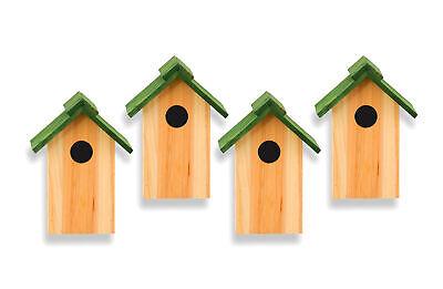4x Nistkasten Vogelhaus Vogelhäuschen Nisthöhle Nisthaus Nisthilfe Holz Meisen