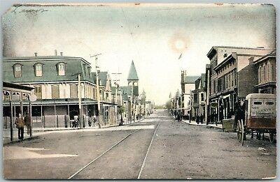 LANSFORD PA MAINE STREET 1907 UNDIVIDED ANTIQUE POSTCARD w/ CORK CANCEL segunda mano  Embacar hacia Argentina