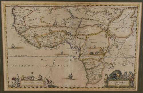 Map of West Africa by J. Blaeu 1662 Joan Blaeu