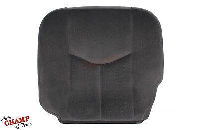 - 2005 2006 GMC Sierra 3500 SLE SLT -Driver Side Bottom Cloth Seat Cover Dark Gray