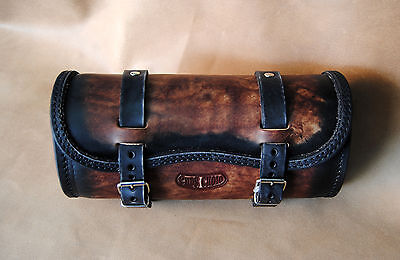TOOL BAG LEATHER FOR HARLEY DAVIDSON MODELS WITH THE BEST ITALIAN THICK LEATHER