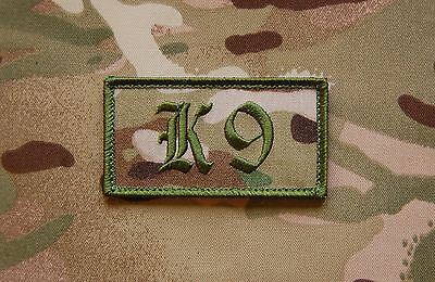 Dog Handler Patch Multicam Green US Army Special Forces  K9 SAS UKSF Hook