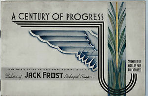 1933 Century of Progress Chicago World's Fair Jack Frost Sugar w Fold Out Poster