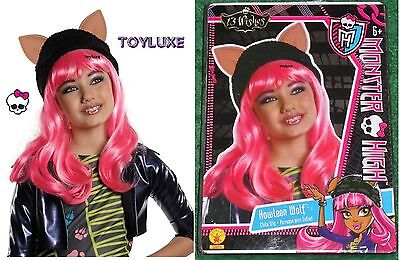 Monster High HOWLEEN WOLF w/ Hat & Ears DressUp CHILD WIG Halloween Costume - Monster High Halloween Costumes Games