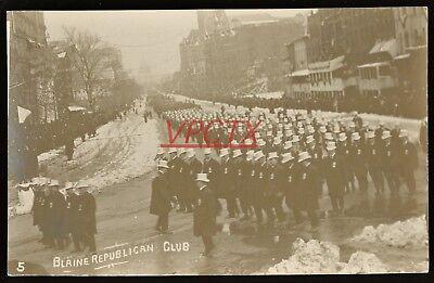 1909 RPPC PRESIDENT WILLIAM H.TAFT INAUGURAL PARADE ~ BLAINE REPUBLICAN CLUB