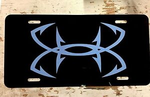 Under Armour Fishing License Plate Car Tag Initials Custom Pick Colors UA