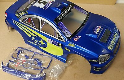 1/10 RC car 190mm on road drift rally Subaru Body Shell Blue