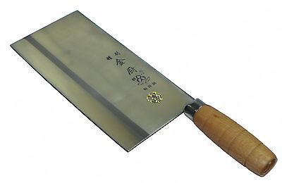 LW  Chinese Traditional Chef Meat Cleaver Knife with Wooden Handle - Stainless Steel Traditional Handle