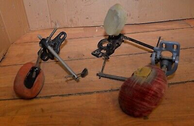 3 Antique Industrial Singer Sewing Machine Knee Kick Bar Commercial Sew Tool Lot