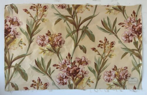 Beautiful 19th C. French Printed Cotton Floral Fabric  (2700)