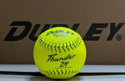 "1 Dozen Composite Leather Dudley Usssa 12"" Softballs - 47/450 (ZN12RFY) 12 Balls"