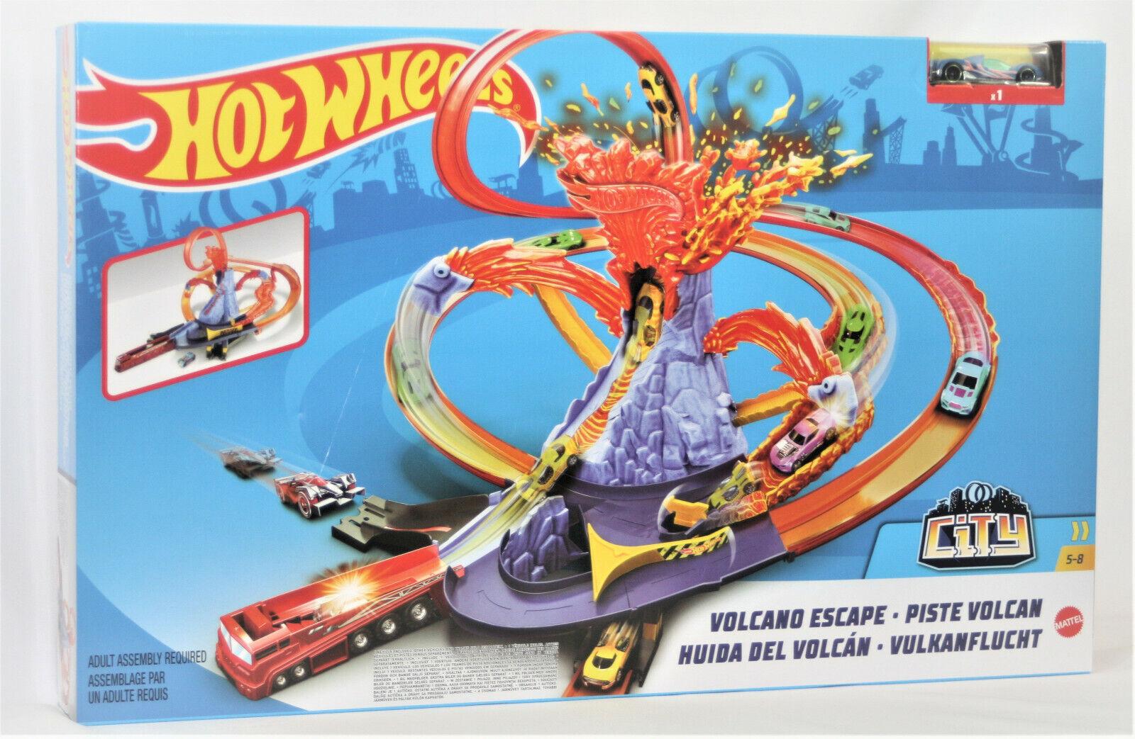 Hot Wheels Vulkanflucht, Hot Wheels Bahn mit Auto, Hot Wheels Spielset