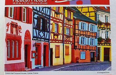 PUZZLEBUG CRAZART PUZZLES Jigsaw HOUSES VILLAGE COLMAR FRANCE 500 pc 18.25x11