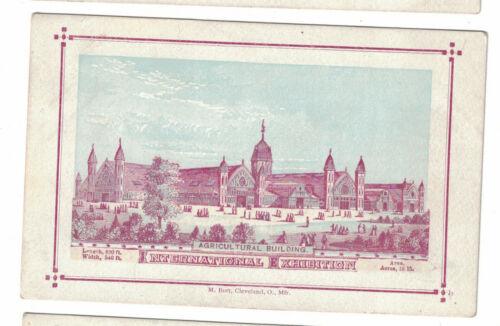 1876 Centennial Exhibition Card -- Agricultural Building - Burt