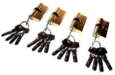 4er Sicherheits-Schließzylinder 60mm Türschloss + 20 Schlüssel  Gleichschließend