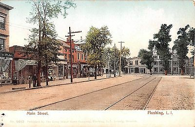 c.1905 Stores Main St. Flushing NY post card (Queen St Stores)