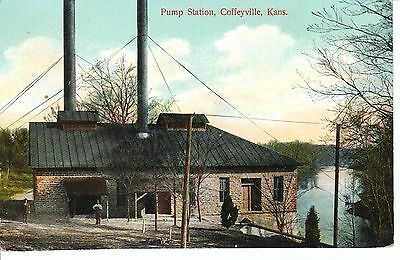 Early 1900S The Pump Station In Coffeyville  Ks Kansas Pc