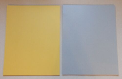 """20 Sheets Gold & Silver Shimmer Card Stock A4 Size 8.5"""" X 11"""" Double Sided 92lb"""