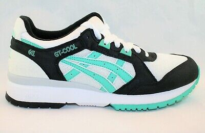NEW Asics H311N GT Cool White-Turquoise-Black Mens Running Shoes, Size 7