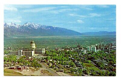 Mountain States Utah (Salt Lake City Utah Postcard State Capitol Snow Capped Wasatch Range Mountain )