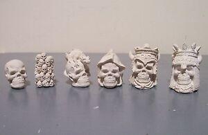 Gothic Skulls Fantasy chess set latex moulds