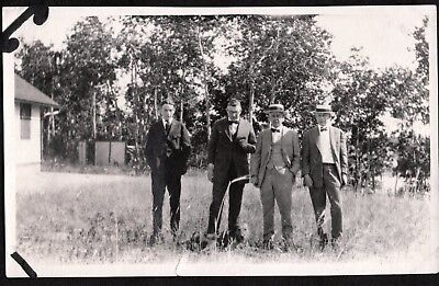 VINTAGE PHOTOGRAPH 1920'S HATS SUITS MENS FASHION AIREDALE TERRIER DOG OLD PHOTO - Mens 1920s Fashion