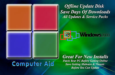 Windows 2000 32 Bit Update Patch Disk   Includes All Sps   All Updates Dvd