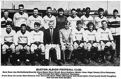 BURTON ALBION FOOTBALL TEAM PHOTO 1986-87 SEASON