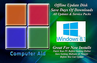 Windows 8 1 32   64 Bit Patch Disk   Incs  All Sps   All Updates Dvd 11 14 17