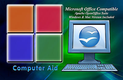 2018 Professional Open Office Suite Win 7 8 10 And Mac Compatable   Dvd
