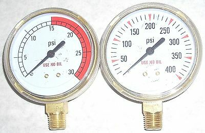 Welding Cutting Acetylene Fuel Regulator Replacement Gauges Set 2 12 Dia 14