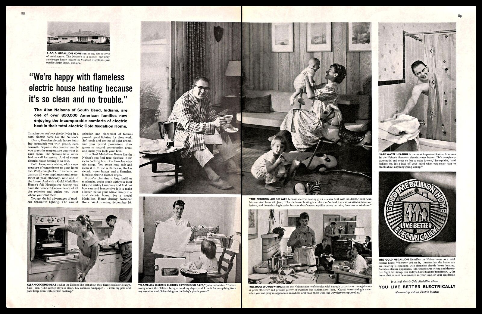 1960 General Electric Live Better Electrically Vintage Print Ad Home Campaign Ebay