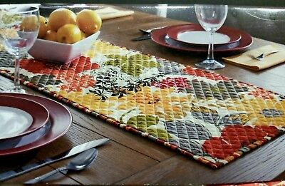 Better Homes & Gardens Quilted Floral Multi Reversible Runner Table 14