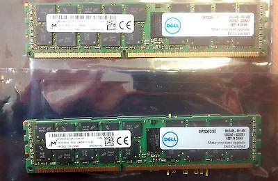 2 DELL Certified Micron 16GB PC3L-12800R MT36KSF2 DDR3 ECC Server Memory