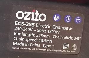 "Ozito 1800W 14"" 355mm Electric Chainsaw - NEW Wellard Kwinana Area Preview"