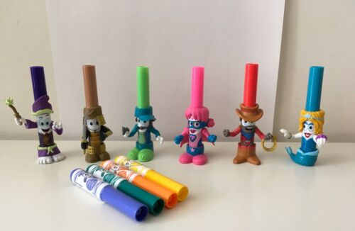 Lot of 6 Crayola Pip Squeaks Markers in Disguise Series 2