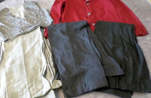 Lot Vintage Boys Suit Jacket Vest Trousers Gray Red 1950s-60s Sz 8-10 Asher