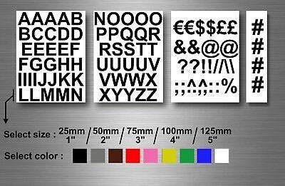 Menge Aufkleber Sticker Alphabet Brief Großbuchstaben Mehrere Größe und Farbe ()