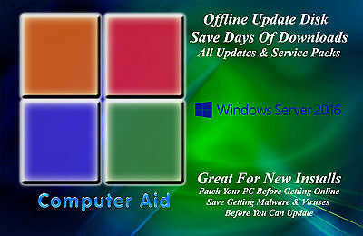 Windows Server 2016 32   64 Bit Patch Disk   Incs  All Updates Sps Dvd 05 08 18