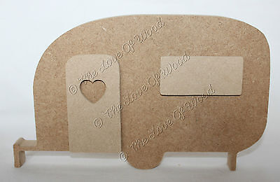 Free standing 3D CARAVAN wooden craft shape MDF 18mm thick