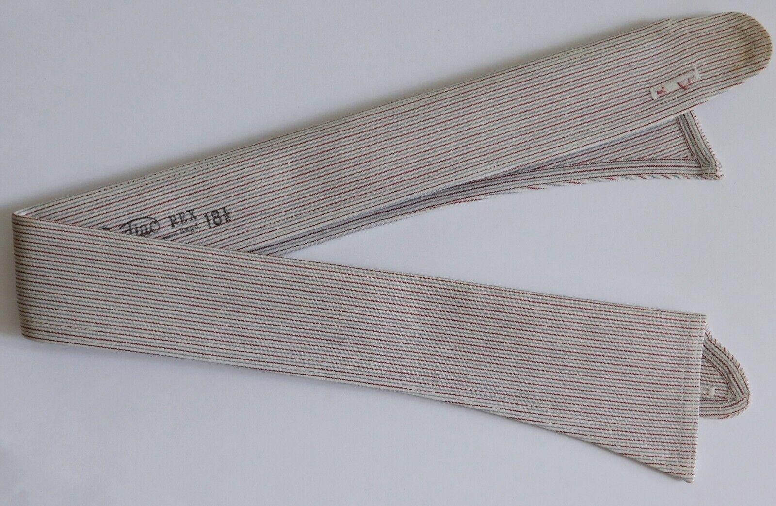 Radiac Rex striped shirt collar size 18.5 UNUSED vintage detachable SHOP SOILED