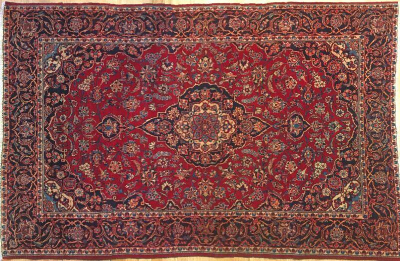 Fantastic Floral - 1920s Antique Oriental Rug - Handmade Carpet - 4.4 X 6.8 Ft