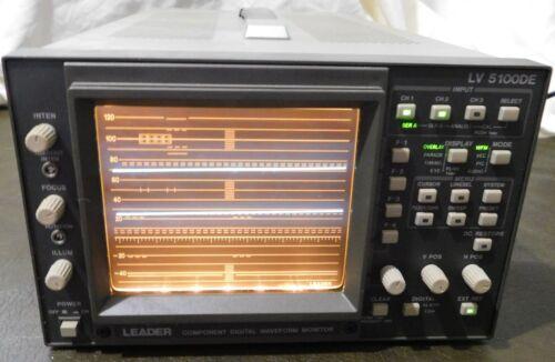 Leader Component Digital Waveform Monitor LV5100DE Clean Unit Powers on