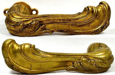 Old Antique Lever Style Brass Door Handles Set Ornate Art Nouveau Beautiful!!!, used for sale  Powder Springs