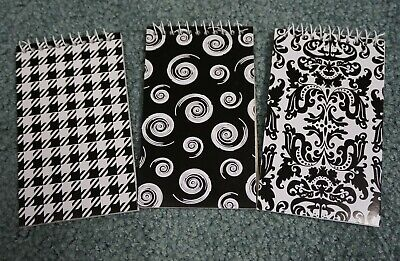 Lot Of 3 New Blackwhite Small Note Books 3 X 5 For Office School ..notebooks
