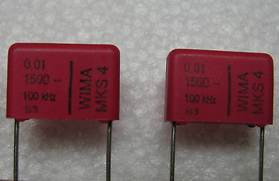 10 New Wima .01uf 1500v Volts 1.5kv 10 Mks4 Polyester Capacitors