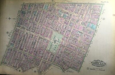 1885 GREENWICH VILLAGE WASHINGTON SQUARE PARK NYU MANHATTAN NEW YORK ATLAS MAP