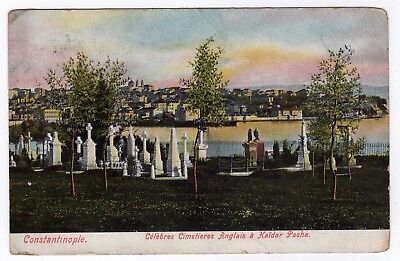 TURKEY, CONSTANTINOPLE, CEMETERIES & GENERAL VIEW, 1909